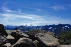 A view from the top where the Ira Spring trail crests before heading down to Mason Lake