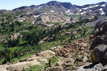 Near Lake Ingalls lookingback at the basin