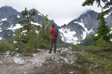 Photo: Monica Lauw. Scrambling around Gem Lake.