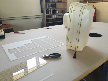 Planning zipper placement on a mock up. Photo courtesy of EVERGOODS.