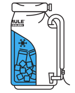 A simple illustration to the three layer construction of the IceMule Pro. Photo: IceMule.